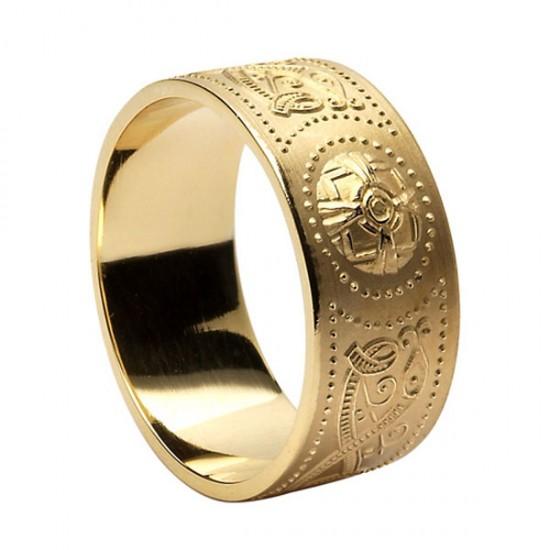 Wide Warrior Shield Wedding Ring - Comfort Fit Wedding Ring