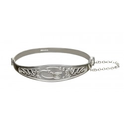 Silver Celtic Children of Lir Bangle