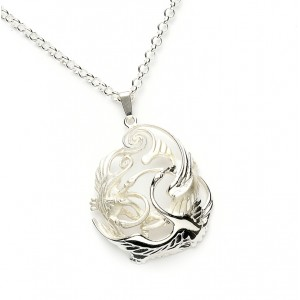 Silver Celtic Swan Children Of Lir Pendant