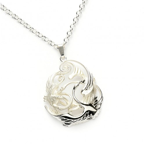 Silver celtic swan children of lir pendant mozeypictures Image collections