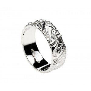 Silver Children of Lir Story Ring
