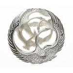 Silver Classic Oval Children Of Lir Brooch