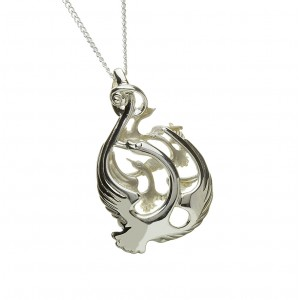 Silver Round Children of Lir Pendant