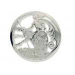 Silver Cuchulainn Warrior and Wolfhound Brooch