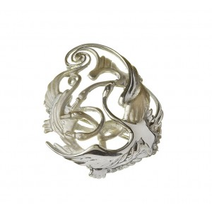 Silver Three Swan Celtic Weave Children of Lir Brooch