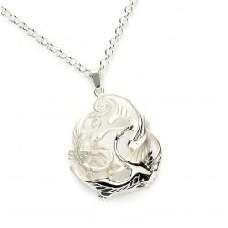 Silver Celtic Swan Children Of Lir Pendant