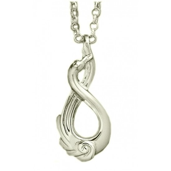 Silver Classic Children of Lir Drop Pendant