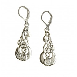 Silver Classic Children of Lir Lever Back Drop Earrings