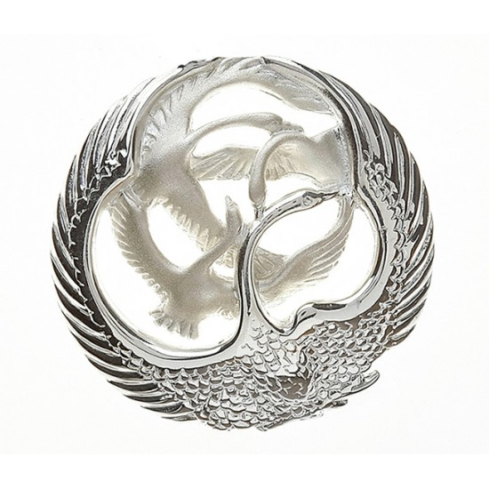 Silver Classic Oval Children Of Lir Brooch