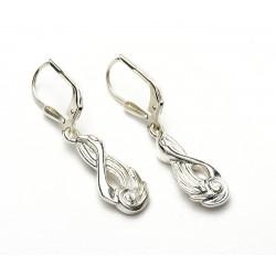 Silver Swan Children of Lir Drop Earrings