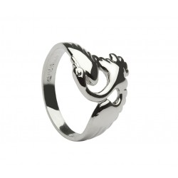 Silver Swan Children of Lir Ring