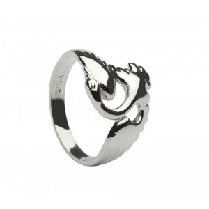 Silver Swan Children of Lir Ring