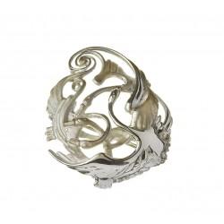 Silver Three Swan Celtic Weave Children of Lir Brooch