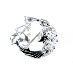 Silver Three Swan Children of Lir Brooch