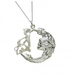 Silver Three Swan Children of Lir Pendant