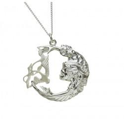 Silver Three Swan Children of Lir Pendant