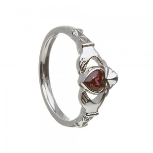 June Alexandrite Birthstone Claddagh Ring