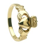 Gold Heavy Claddagh Ring