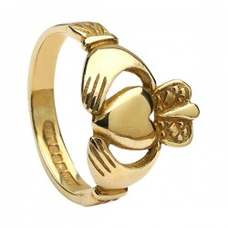 Gold Ladies Heavy Claddagh Ring
