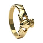 Gold Maids Large Claddagh Ring