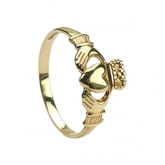 Gold Claddagh Baby Ring