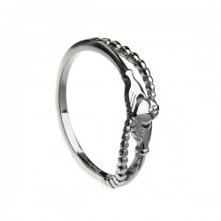 Gold Contemporary Gold Claddagh Ring