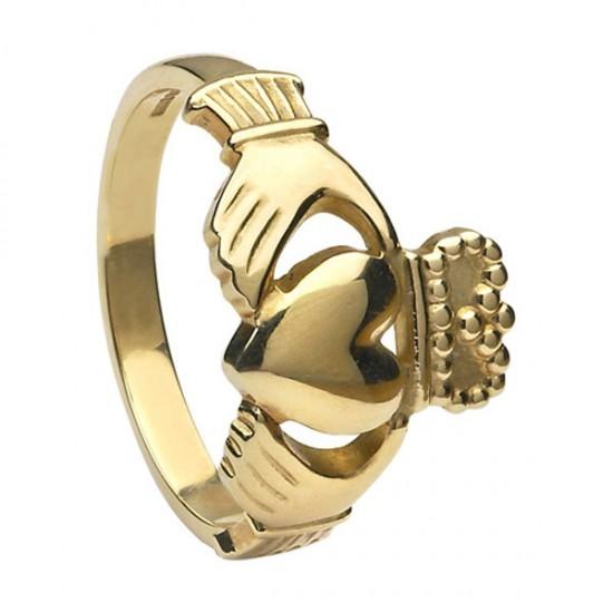 Mens Gold Claddagh Ring