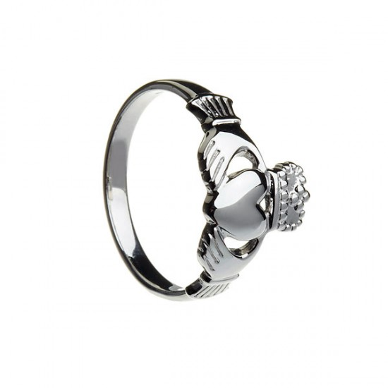 Gold Gents Large Claddagh Ring