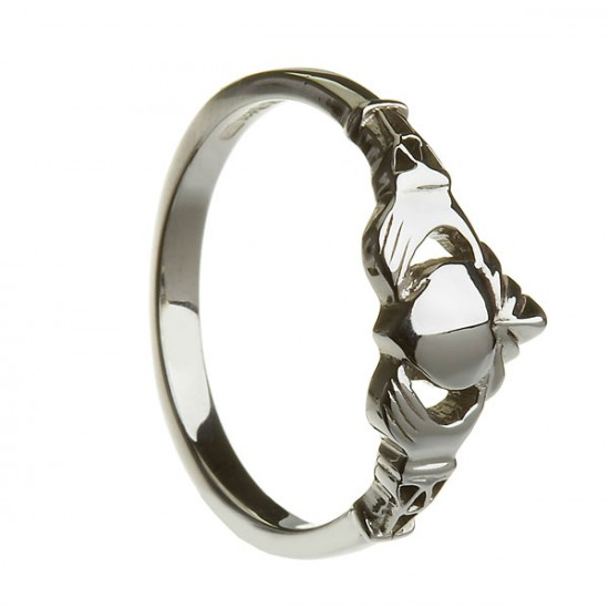Gold New York Claddagh Ring with Trinity Cuffs