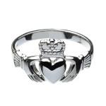 Silver Gents Heavy Claddagh Ring