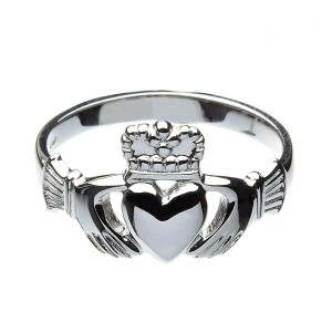 Silver Gents Heavy Claddagh Ring