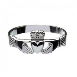 Silver Heavy Claddagh Ring