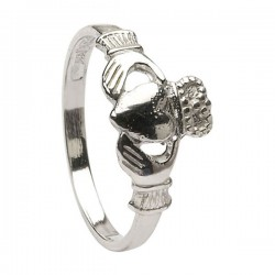 Silver Claddagh Baby Ring
