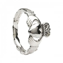 Silver Claddagh Twist Shank