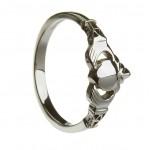 Silver Large New York Claddagh with Trinity Cuffs