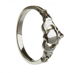 Silver Large New York Claddagh with Trinity Cuffs