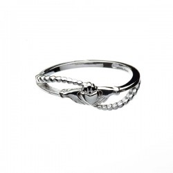 Contemporary Silver Claddagh Ring