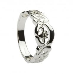 Silver Celtic Cladddagh Ring