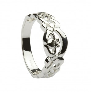 Silver Celtic Cladddagh Ring
