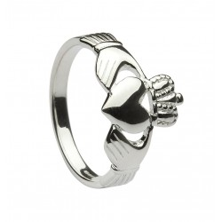 Silver Classaic Heavy Ladies Claddagh Ring