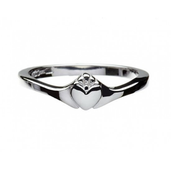 Silver Contemporary Claddagh Ring