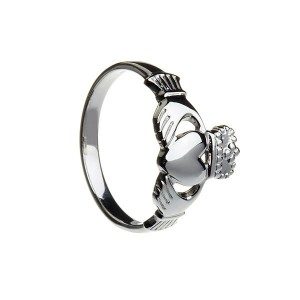 Silver Gents Large Claddagh Ring