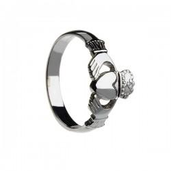 Silver Ladies Heavy Claddagh Ring