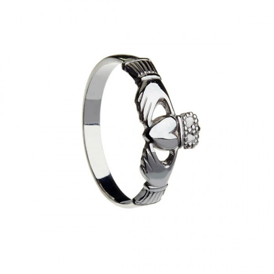 Silver Maids Large Claddagh Ring