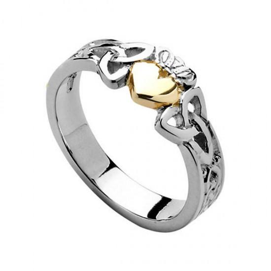 Ladies Claddagh Heart Trinity Knot Shank