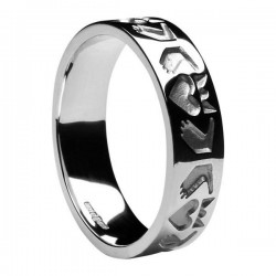 Sterling Silver Claddagh Friendship Wedding Ring