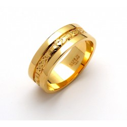 14K Celtic Claddagh with Trim