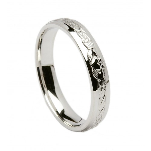 silver celtic claddagh wedding band - Claddagh Wedding Ring