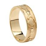 Gold Claddagh Friendship Ring
