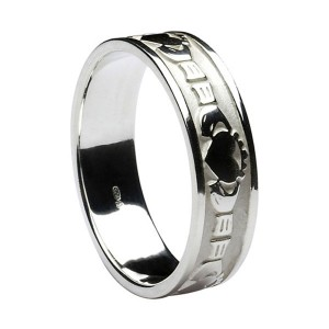 Sterling Silver Claddagh Friendship Wedding Ring